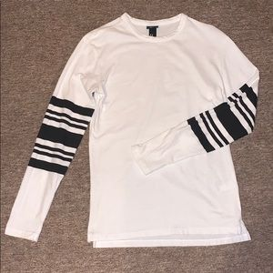 H&M XS Long Striped Sleeve T-Shirt
